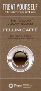 Treat Yourself To Coffee On Us @ Fellini Caffe