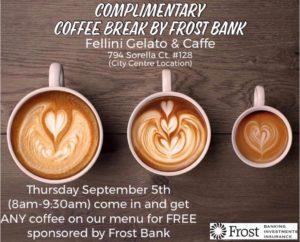 Coffee Break by Frost Bank @ Fellini Gelato & Caffe